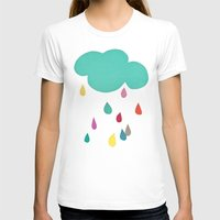 sunshine T-shirts featuring Sunshine and Showers by Cassia Beck