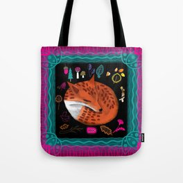 Bohemian Woodland Fox Tote Bag