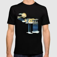 Castle in Heaven Black SMALL Mens Fitted Tee