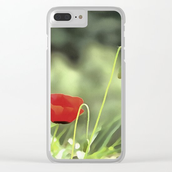 One Poppy Clear iPhone Case