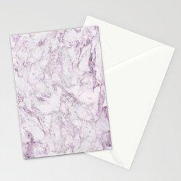 Elegant modern vintage white lilac violet marble Stationery Cards