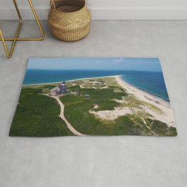 Otherworldly, Northeast Lighthouse and Sandy Point, Block Island, Rhode Island Rug