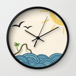 Sunny Island Wall Clock