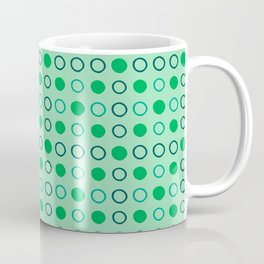 Green and Blue Dots Pattern on Soft Green 2 Coffee Mug
