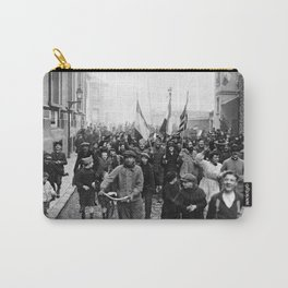 Celebrating In The Streets Of Paris - Armistice Day WW1 - 1918 Carry-All Pouch