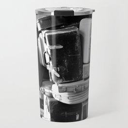 TOWER OF LUGGAGE in Black & White Travel Mug