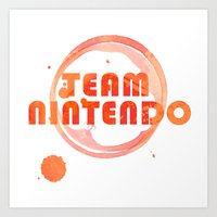 nintendo Art Prints featuring Team Nintendo by Bradley Bailey