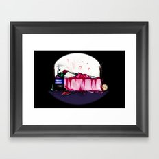 Mad Clown Love Framed Art Print