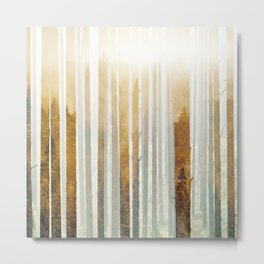 Golden Winter Forest 4 Metal Print