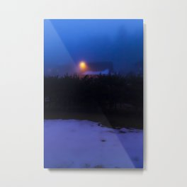 Glow In The Mountains Metal Print