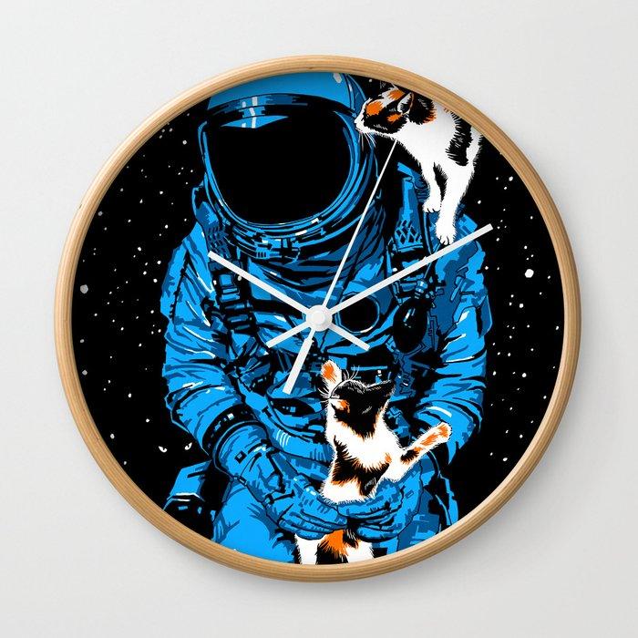 Astrocats Wall Clock