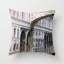 Bridge of Sighs watercolour Throw Pillow