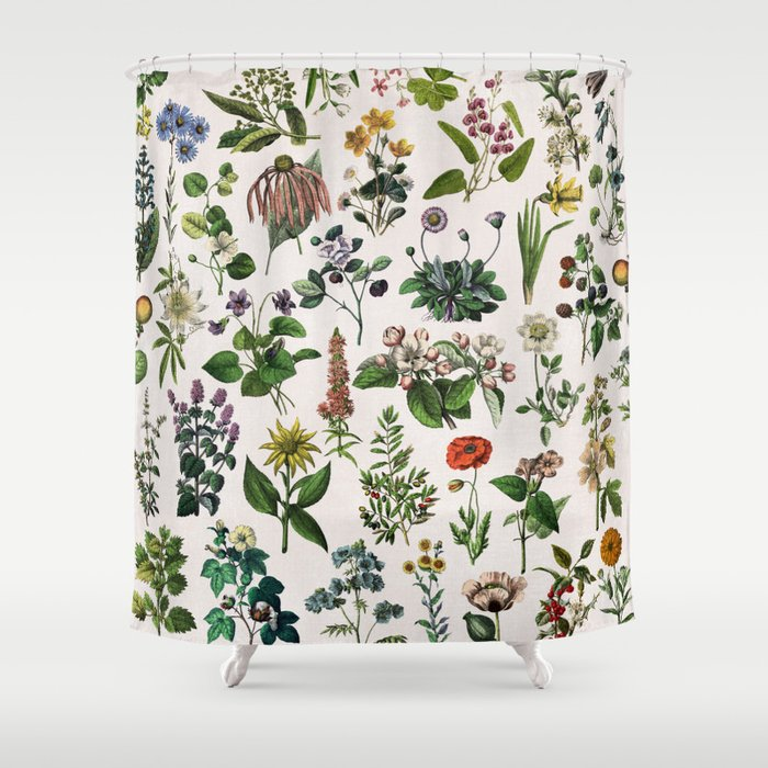 Vintage Botanical Print Shower Curtain By Anniemariedesigns Society6