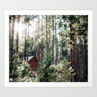 Camping in Yosemite Art Print