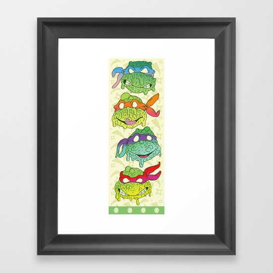 Teenage (a Little Too Mutated) Ninja Turtles Framed Art Print