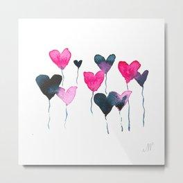 Heart felt balloons Metal Print