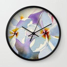 Plumeria Island Breeze Wall Clock