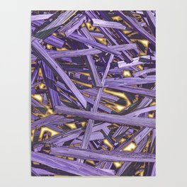 PURPLE KINDLING AND GLOWING EMBERS ABSTRACT Poster