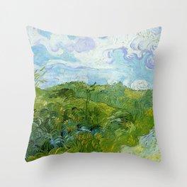 Van Gogh Green Wheat Fields Auvers 1890 Throw Pillow