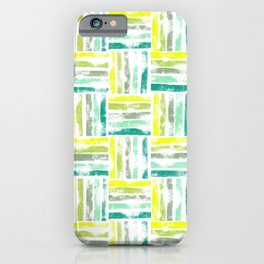 Digital colorful wicker basket line pattern iPhone Case