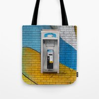 telephone Tote Bags featuring Telephone by RMK Creative
