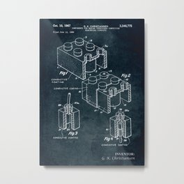 1966 - Components for making structures comprising electrical circuits Metal Print