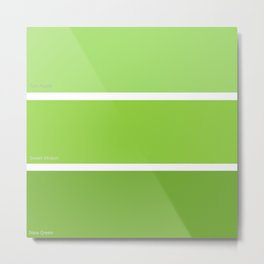 New Green Metal Print