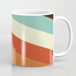 Renpet - Colorful Classic Abstract Minimal Retro 70s Style Stripes Design Coffee Mug