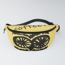 Coffee? Morning owl print Fanny Pack
