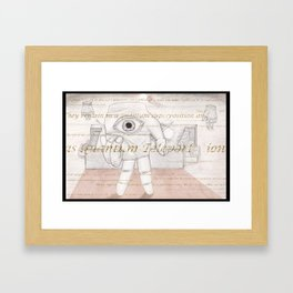Birth Place Framed Art Print