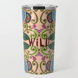 Bohemian Floral Peach version Travel Mug