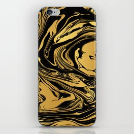 Black and Gold Marble Edition 2 iPhone Skin