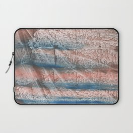 Brown blue streaked abstract Laptop Sleeve