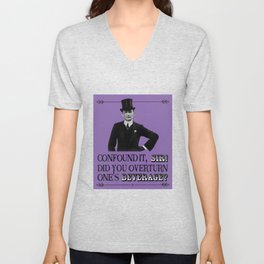 Retro Victorian / Edwardian  – Did You Spill My Pint? Unisex V-Neck