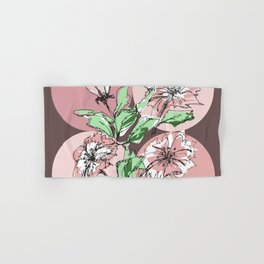hand drawn flowers, modern print Hand & Bath Towel