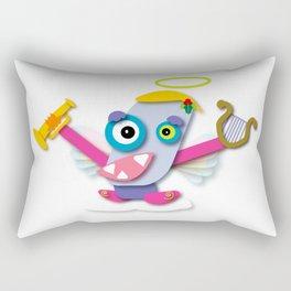 Pastel-Colored Kawaii Cartoon Christmas Angel Rectangular Pillow