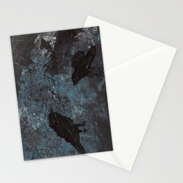 Distorted Caw Stationery Cards