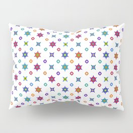 Small Flowers in White Pillow Sham