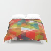 transparent Duvet Covers featuring Transparent Cubism by All Is One