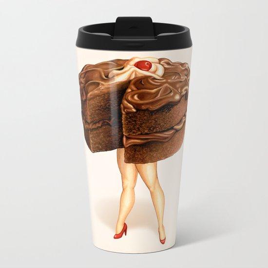 Cake Girl - Chocolate Metal Travel Mug