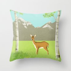 Alpine Meadow Throw Pillow