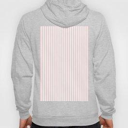 Thin Lush Blush Pink and White Mattress Ticking Stripes Hoody
