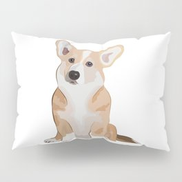 Corgi Waiting Pillow Sham