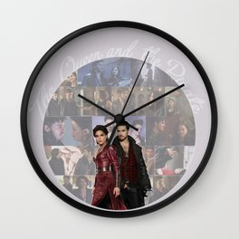 The Queen and the Pirate Wall Clock