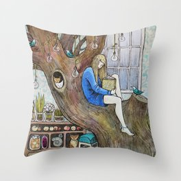 Her Room Throw Pillow