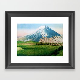 Resting before the Climb Framed Art Print