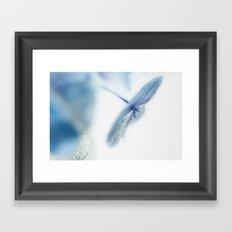 feeling blue Framed Art Print