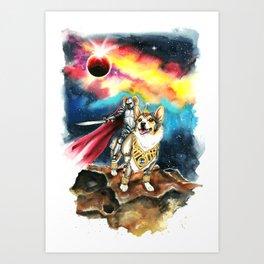 Corgi Galaxy Art Print