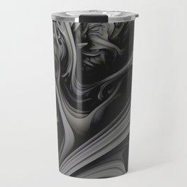 Charcoal Churn. 3d Abstract Art Travel Mug