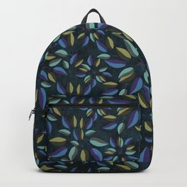 Duo-Toned Leaf pattern 1 (Purple/Gold) Backpack